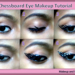 Chessboard Eyemakeup Tutorial and EOTD