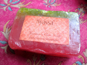 Nyassa Handmade Clear Soap in Fresh Raspberry Review