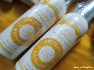 Aura Vedic Pure Brightening Sun Block Lotion Review