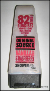 Original Source Vanilla and Raspberry Shower Gel Review