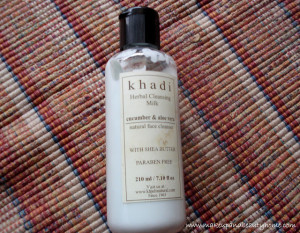 Khadi Herbal Cucumber and Aloe Vera Cleansing Milk Review