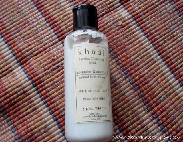 Khadi Herbal Cucumber and Aloe Vera Cleansing Milk Review