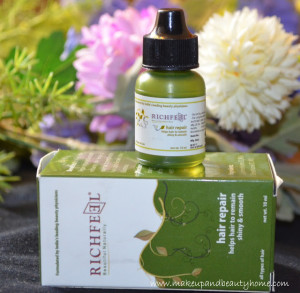 Richfeel Hair Repair Review, Swatch and Photos