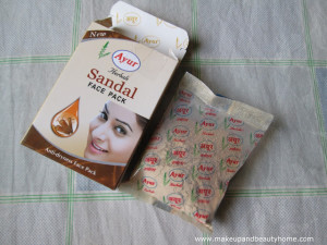Ayur Herbals Sandal Face Pack Review and Photos
