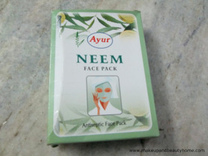 Ayur Neem Face Pack Review and Photos
