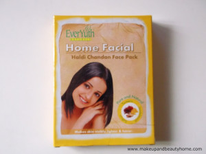 Everyuth Home Facial Haldi Chandan Face Pack Review