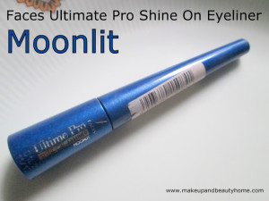 Faces Ultimate Pro Shine On Eyeliner Moonlit Review, Swatches and EOTD