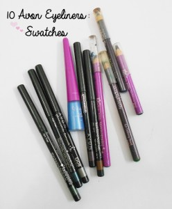 10 Avon Eyeliners – Swatches and Photos