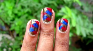 Criss Cross Nail Art : Photo Tutorial