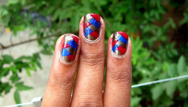 Criss Cross Nail Art Photo Tutorial