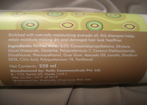 Fabindia-Avocado-Shampoo-Ingredients
