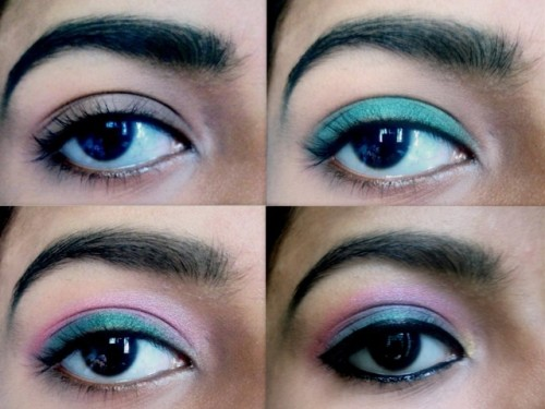 Green-Pink-Eye-Makeup-Tutorial