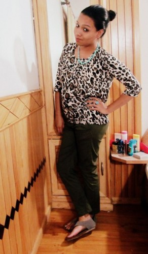 Leopard-Print-Top-with-Olive-Green-Pants -OOTD-2