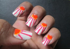 Sunny Rays in Rainy Days Nail Art – Photo Tutorial