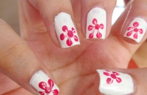 Single Flower Print Nail Art – Step by Step Tutorial