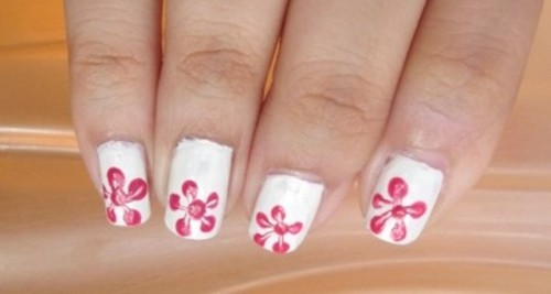 Single-Flower-Print-Nail-Art-Tutorial