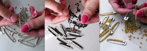 Statement-Bracelet-from-Safety-Pins-Step-1