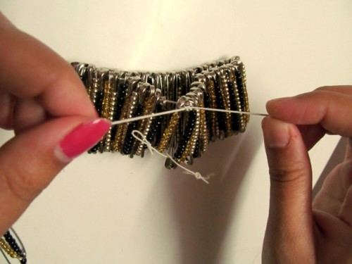 Statement-Bracelet-from-Safety-Pins-Step-4