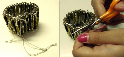 Statement-Bracelet-from-Safety-Pins-Step-5