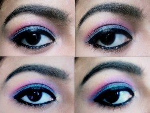 Teal Green and Bright Pink Eye Makeup Tutorial