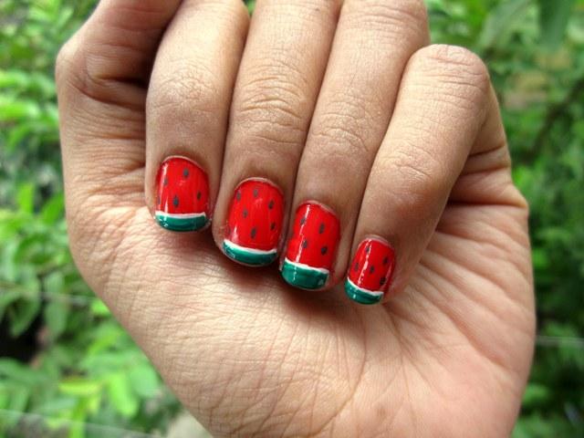 Watermelon Nail Art Tutorial And Photos Mabh Blog