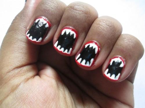 Halloween Inspired Easy Nail Art Tutorial