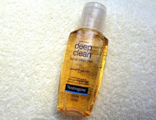 how to use neutrogena deep clean facial cleanser