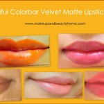 beautiful colorbar velvet matte lipstick shades