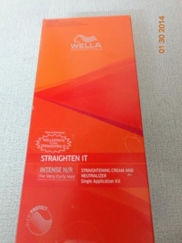 wella hair straightening kit review