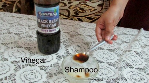 mix vinegar with shampoo