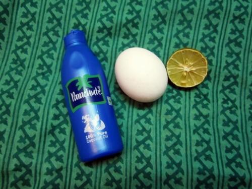 coconut oi, egg and lemon