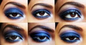 Intense Blue Smokey Eye Makeup – Step by Step Tutorial