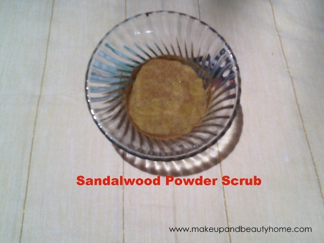 sandalwood powder scrub