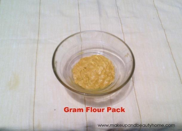 gram flour pack