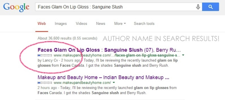your google authorship