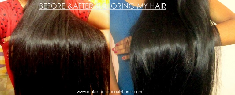 before and after using loreal paris casting creme gloss