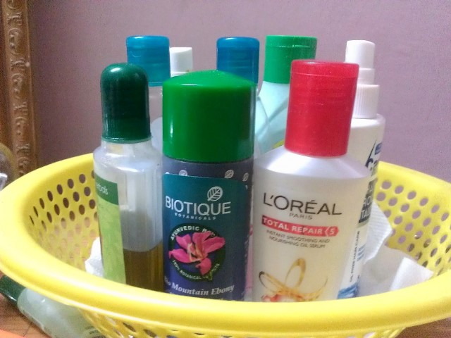 hair care products I use