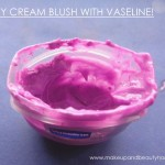 cream blush with vaseline