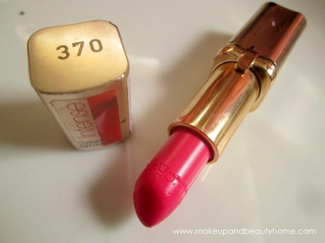 loreal paris crazy fuchsia lipstick review