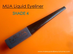 MUA Liquid Eyeliner Shade 4 : Review, Swatches