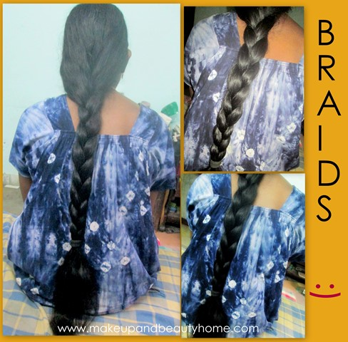 oiling and braiding