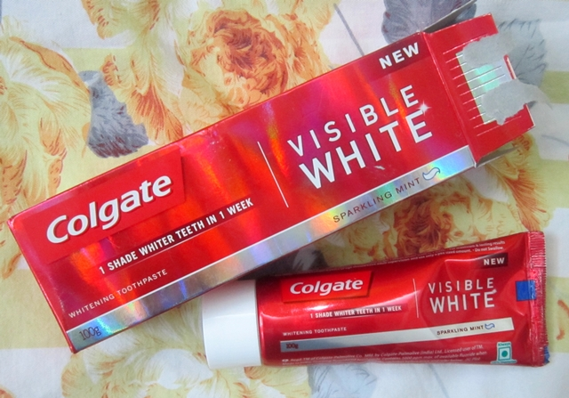 colgate visible white toothpaste review