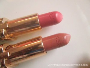 L'Oreal Paris Color Riche Natural Lipstick : Velvet Rose (378), Silky Toffee (381) Review