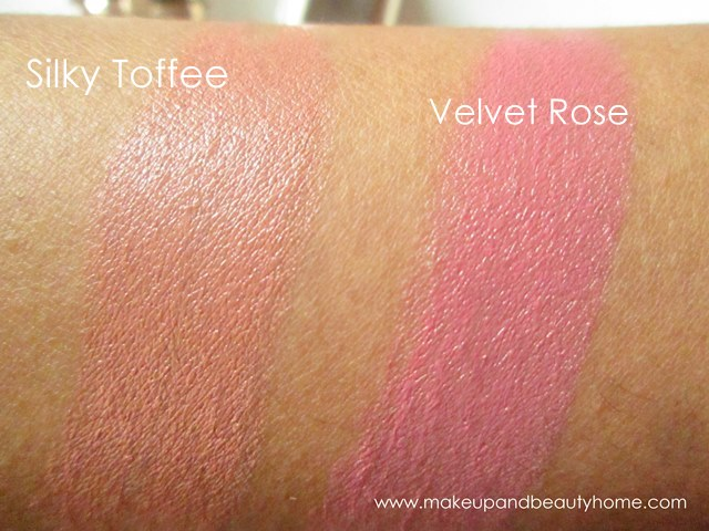 silky toffee velvet rose lipstick swatches