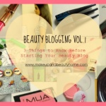 beauty blogging vol.1