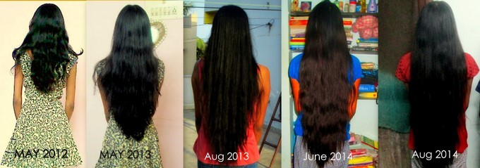 my hair growth year by year