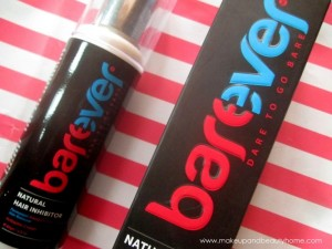Barever Natural Hair Inhibitor : Review and Photos