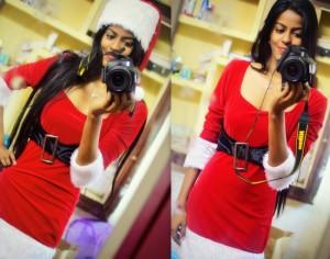 Red Velvet Santa Claus Costume OOTD