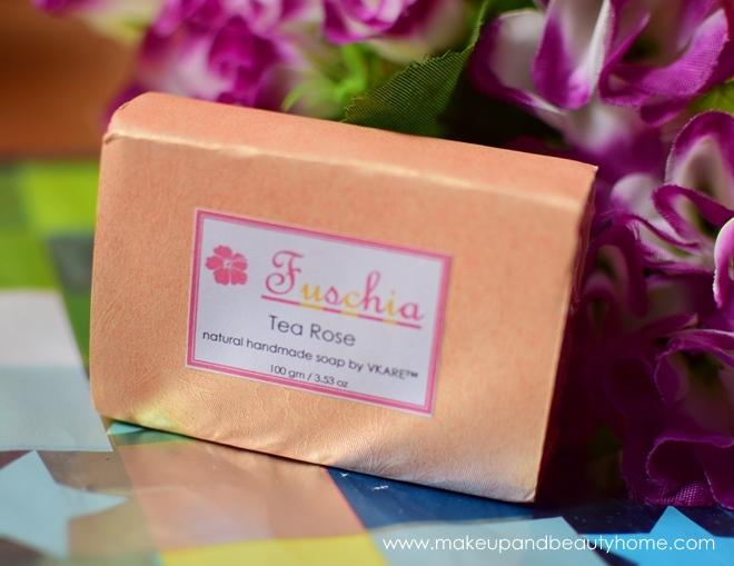 Fuschia Handmade Soap Tearose