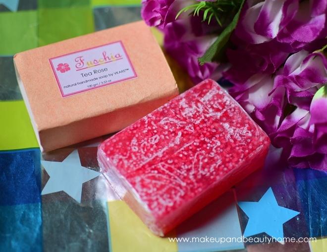 fuschia tea rose soap